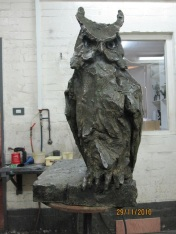 Owl in bronze - first cast