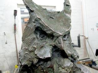 Owl in bronze - first cast